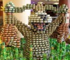 CANstruction Sculptures Made from Nearly 30,000 Cans of Food Fight Hunger in San Francisco