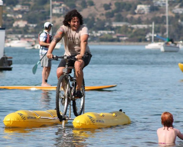 Man Invents Water Bicycle To Commute Across The San Francisco Bay