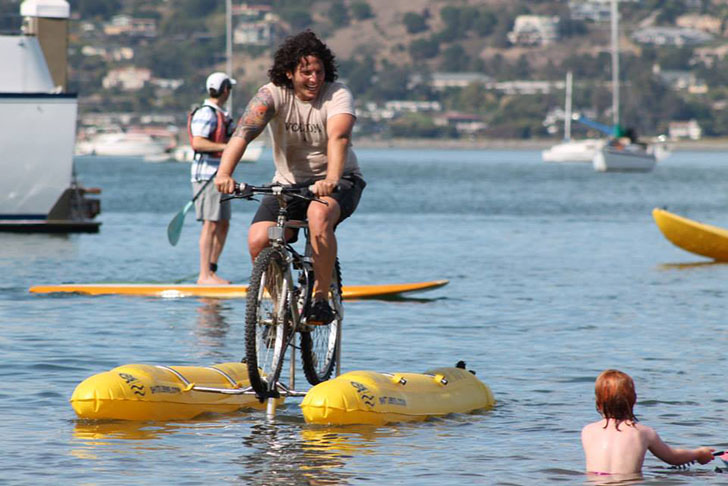 Man Invents Water Bicycle To Commute Across The San Francisco