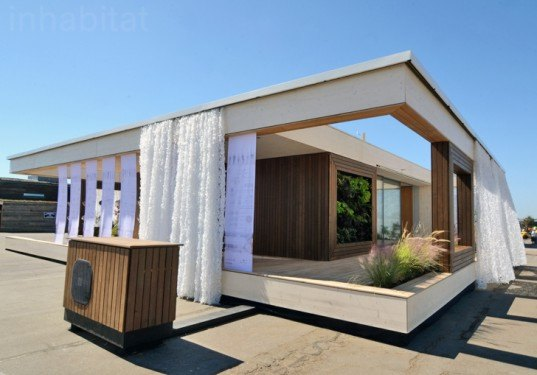 Team austria s lisi solar decathlon home keeps cool with a House with movable walls