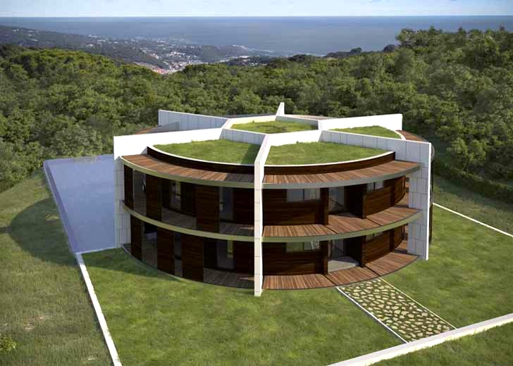 Architect Designs A Soccer Ball Shaped House For Famous Footballer Lionel Messi on Zero Energy Building
