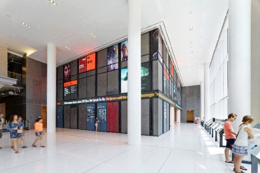 Paulin+Morris, NPR Headquarters Washington, environmental graphics, eco-friendly signage, NPR, sustainable buildings, green design, interactive signage, interactive design, LEED Gold Certification, LEED certified buildings Washington, solar energy, LED lights