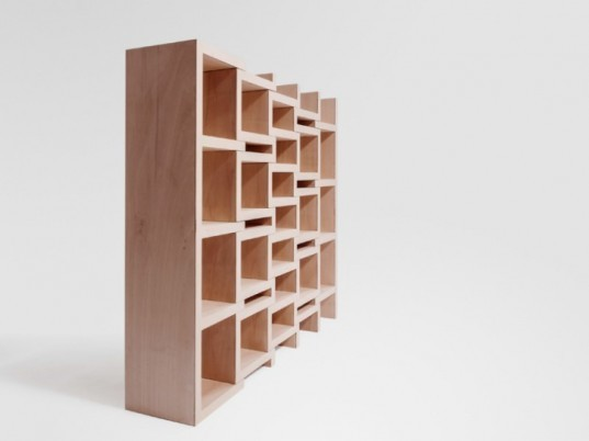 reinier de jong, REK, bookcase, book selves, green furniture, poplar plywood, sustainable materials, green design, eco furniture