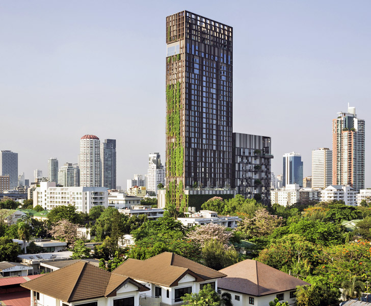 Somdoon architects 39 ideo morph 38 tower is wrapped with for Bangkok architecture