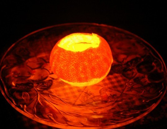 Tangerine lamp, orange lamp, orange peel lamp, orange oil lamp