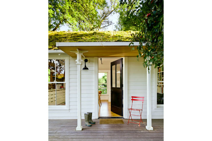 Lush Green Roof Keeps This Tiny Cottage Home Cool In