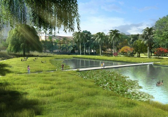 Valencia's Central Park Project, Gustafson Porter, Kathryn Gustafson, Borgos Pieper, urban design, Spain, high speed railway,