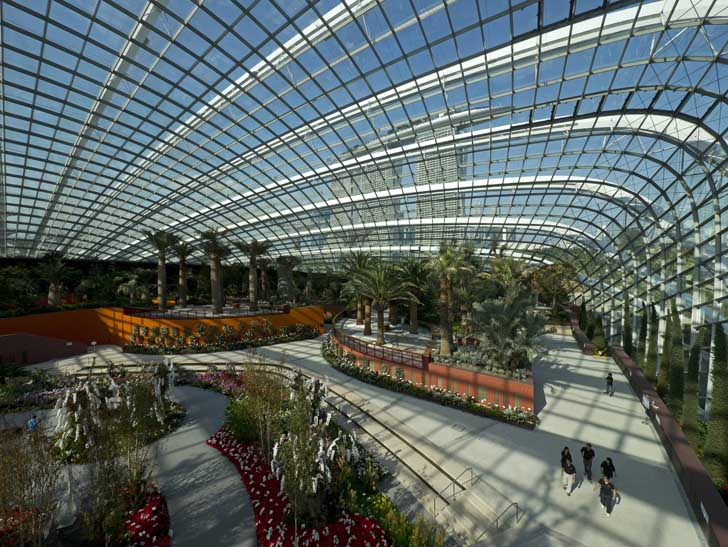 Garden By The Bay Flower Dome wilkinson eyre's carbon positive singapore gardensthe bay wins