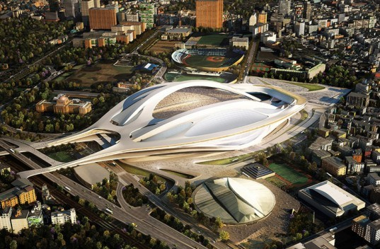 Zaha Hadid Olympic Stadium Japan, Tokyo National Olympic Stadium, Zaha Hadid Architects, stadium design, Tokyo Olympic Stadium, Olympic Games 2020, Toyo Ito, Sou Fujimoto, Kengo Kuma, Fumihiko Maki, SANAA