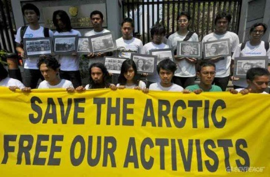 greenpeace, artcic protest, russian government, piracy charges, arctic sunrise