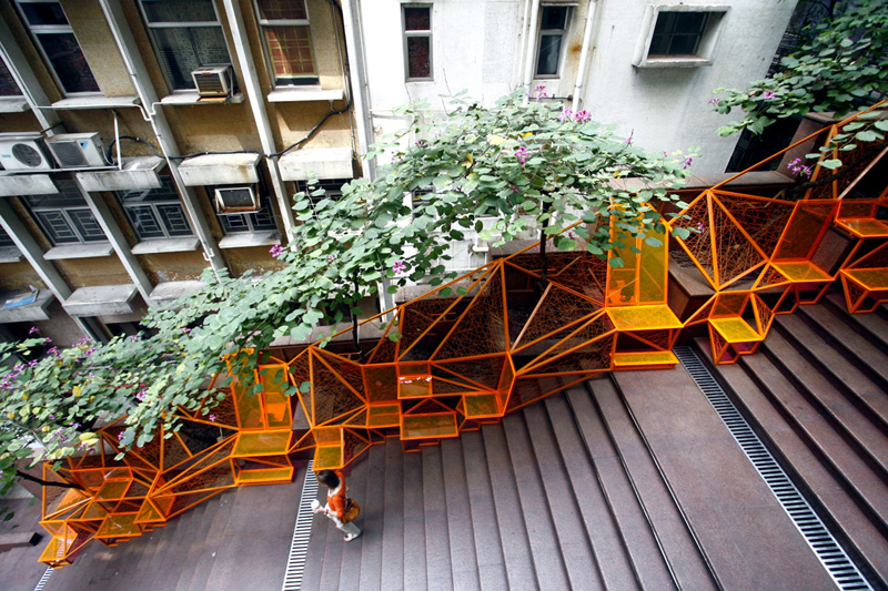 The Cascade Project Transforms Disused Staircase Into Inspiring