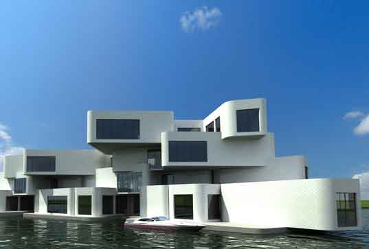 citadel, new water, holland, netherlands, waterstudio, floating apartments, polder
