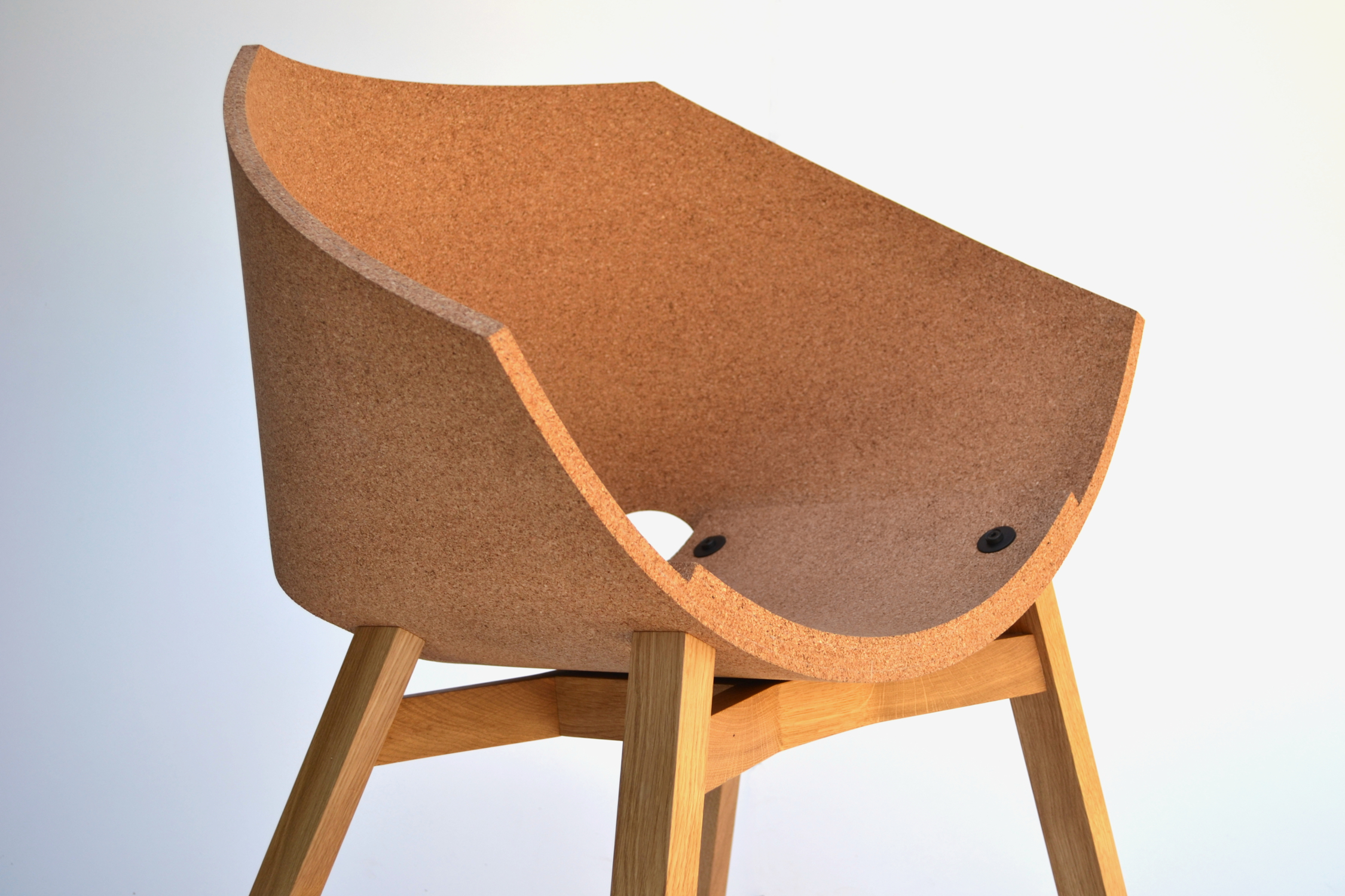 Corkigami cool seating designs made from eco friendly cork