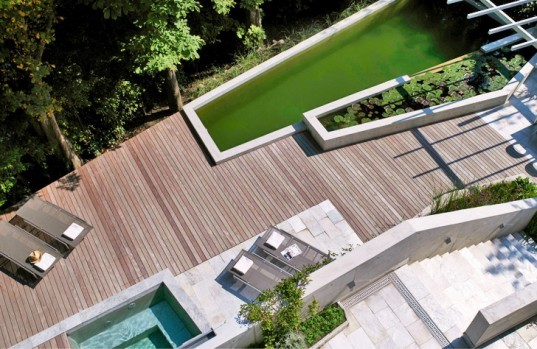 Fletcher Studio, biopool, Zurich, Switzerland, green design, sustainable design, green pool, garden, botanical, green building, sustainable architecture, eco pool