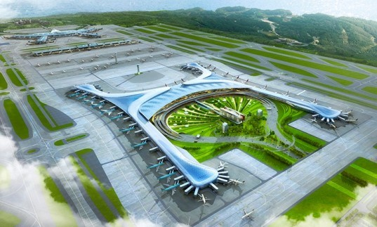 incheon international airport, gensler, HMGY Consortium, south korea, Incheon International Airport terminal 2, sustainable airport, Pyeongchang, 2018 Winter Olympics