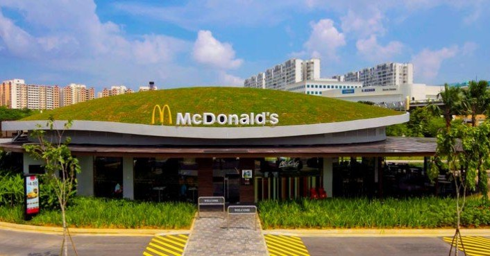 Singapore Mcdonalds Unveils A Green Roof Designed To Sustain Local