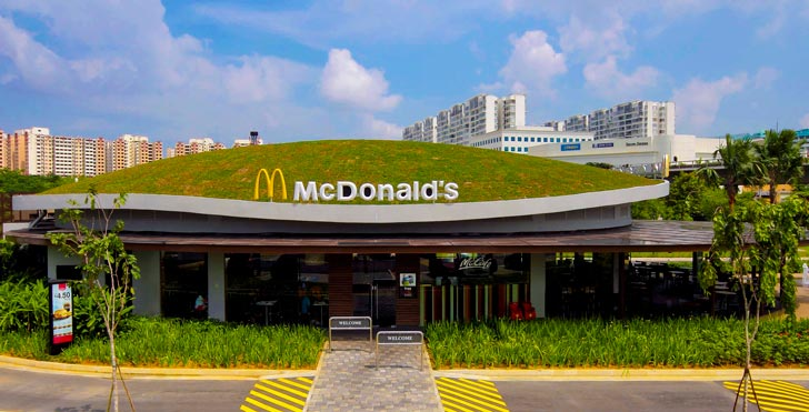 Singapore Mcdonalds Unveils A Green Roof Designed To