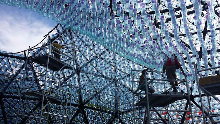 Rising Moon Pavilion Made Entirely Of Recycled Water