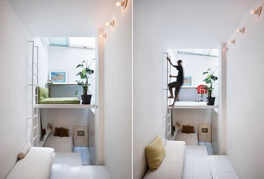 mycc, tiny home, Minimalist Pad 100M3, Spain, natural light, white cube apartment, Tiny Homes, Architecture, Daylighting