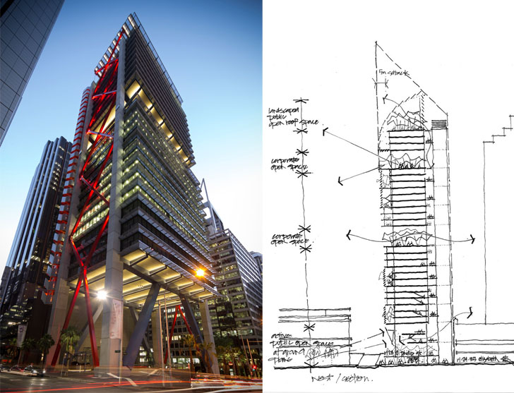 8 chifley concept sketch lippmann associates and view for Concept 8 architects
