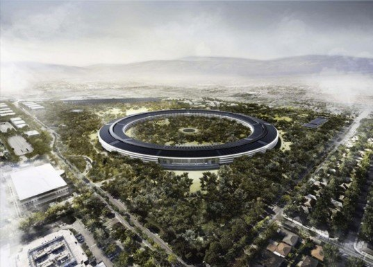 green design, eco design, sustainable design, Apple Headquarters, Steve Jobs, Apple spaceship building, Foster and Partners