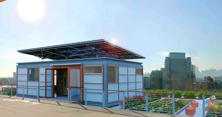 SolarPowered Home Rooftop Home To Be Raised Atop CCNYs Spitzer - City college of new york architecture