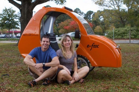 e-fox, Jesse Stephenson, velomobile, e-bike, electric bike, electric, electric motor, green transportation, zero-emissions, zero-emissions driving
