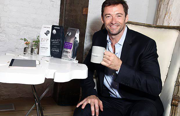 X Mens Hugh Jackman Funds Global Education With New Laughing Man Coffee