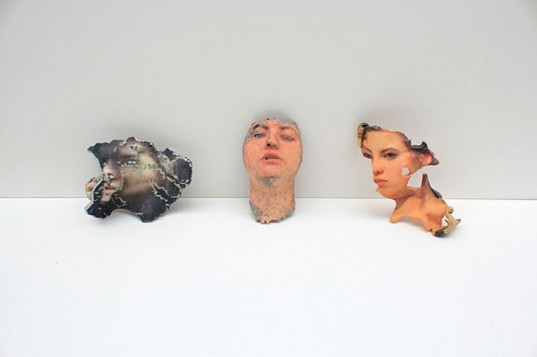 green design, eco design, sustainable design, Lorna Barnshaw, 3d printed face, 3d scanned face, 3d printed art, 123d Catch, Cubify