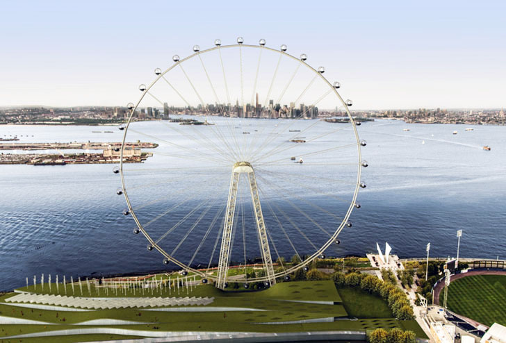 green new york ferris wheel approved for construction on staten island inhabitat green. Black Bedroom Furniture Sets. Home Design Ideas