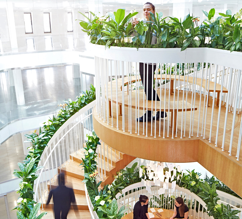 Paul Cocksedge's living staircase spirals from floor to ceiling with lush greenery