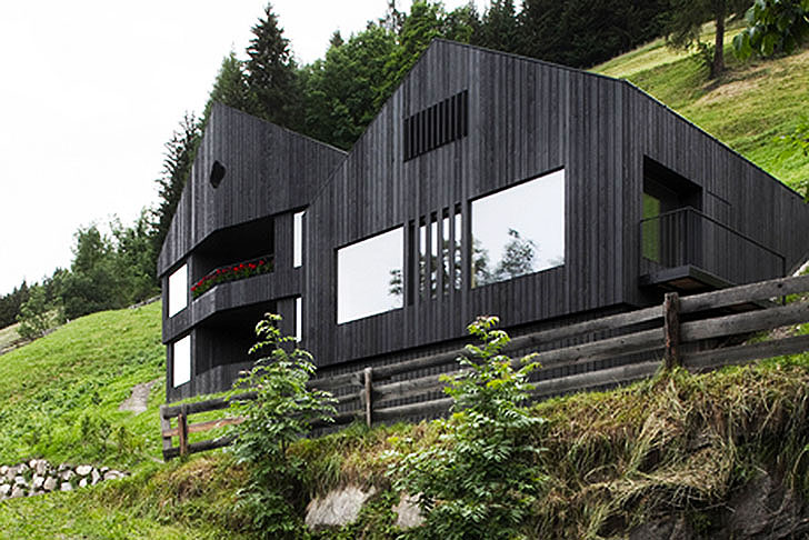 Rustic Wooden Alpine House Is Powered By Both Solar And