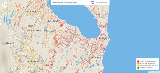 Red Cross, map, interactive map, storms, superstorms, natural disasters, typhoons, Philippines, Haiyan, destruction, cities,