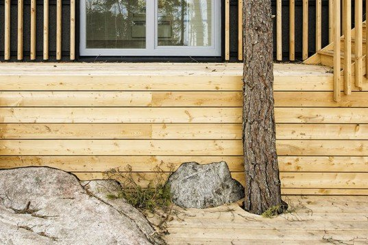 Sandell Sandberg, Timraro Vacation House, Sweden house, house on stilts, local wood, Swedish architecture, Architecture, daylighting, Green Materials,
