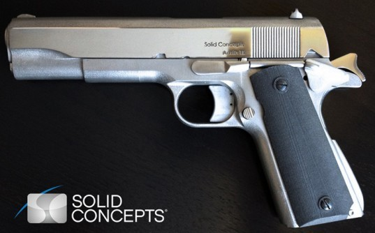 3D printing with metal, Metal 3D printer, Solid Concepts, 3D printed Gun, 3D printed weapon, Gun rights. 3D printed 1911, 3D printed metal gun, World's First 3D Printed Metal Gun, 3D printed Metal gun has already fired 50 bullets.
