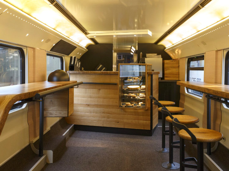 Starbucks Unveils Hot New Mobile Coffee Shop On A Train
