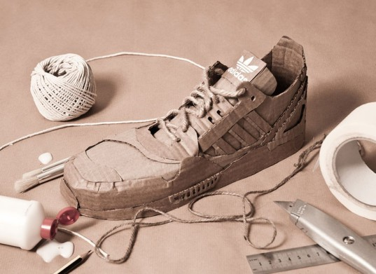 Adidas Unveils 100 Percent Recycled Cardboard Sneakers Designed By Chris Anderson