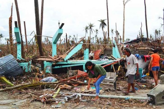 tacloban, typhoon haiyan, philippines, storm, climate change, global warming