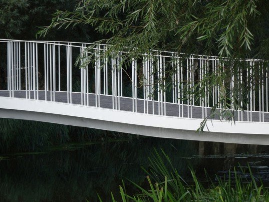Maasdike Bridge, The Netherlands, footbridge, bridge design, sustainable bridges, eco bridges