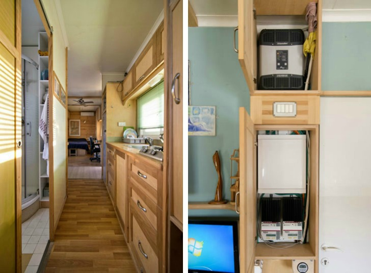 Truck Transformed into Amazing Green Mobile Home on barns turned to homes, small shed homes, metal building homes,