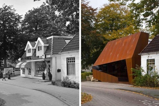 adaptive reuse, developer office, mohn + Bouman Architects, orangerock, orangerock projectontwikkeling, temporary use, corten steel, rotterdam