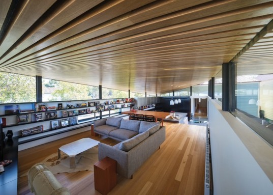 march studio, mullet house, melbourne, kensington residence, renovated home, Edwardian facade, skylights, clerestory windows, naturally finished timber, cantilevered roof