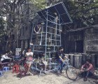 Ta đi Ôtô is a Mini Mobile Skyscraper and Tricycle Performance Space in Hanoi