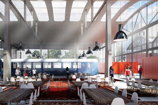 1000 Startups, Wilmotte et Associes, paris, startup incubator, green renovation, adaptive reuse, train station,