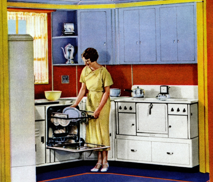 How kitchen design has evolved over the last century for 1930s style kitchen design