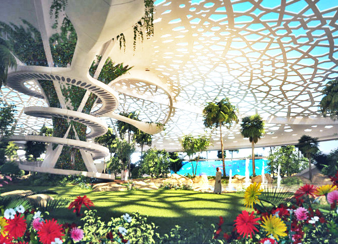 A Palace For Nature: Sanzpont Arquitectura Unveils Plans for a Self-Sustaining Botanical Oasis in Qatar