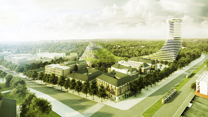 Nice Architects Propose A Hill Built From Construction