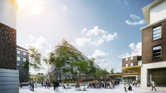 Nice architects propose a hill built from construction for Architects adelaide