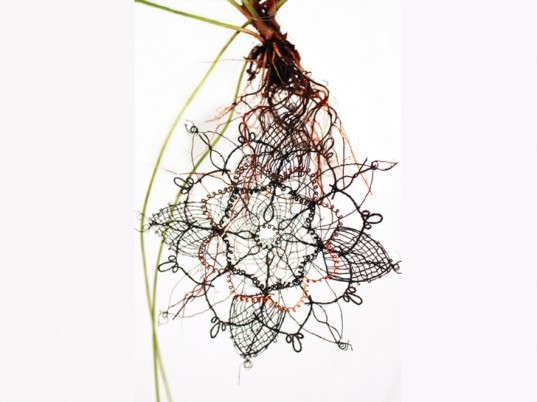 Carole Collet textiles, Carole Collet, BioLace, St Martins College, biotextiles, genetically engineered plants, future textiles, green technology, bio-textiles, sustainable textiles, greenhouses, Future Textile 3, sustainable fashion, sustainable lace material