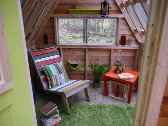 Derek Deek Diedricksen, The Rock Bottom Cabin, tiny homes, repurposed building materials, off the grid homes, sustainable building, vermont tiny cabin,